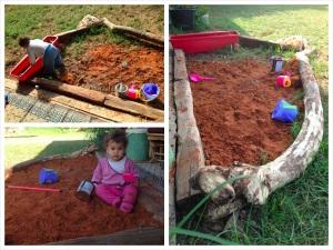 ארגז חול מחמרה, הכיף לא נגמר! עדנית שכבר לא טובה לצמחים משמשת אחסון לשבבי עץ ומשחקים אחרים